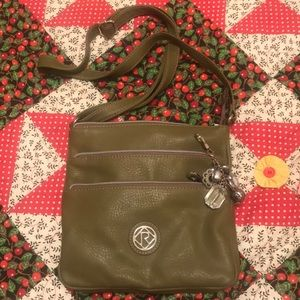 Relic olive green leather purse
